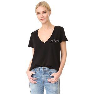 Wildfox Black Offline Graphic Tee Shirt size S